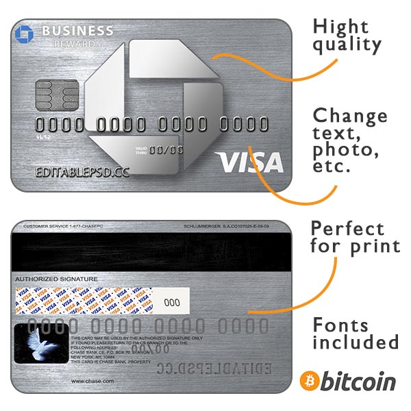 Credit card chase psd