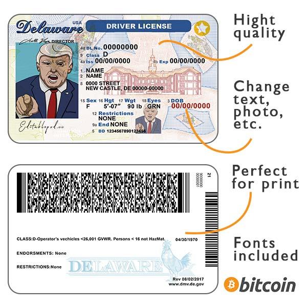 Delaware driver license psd
