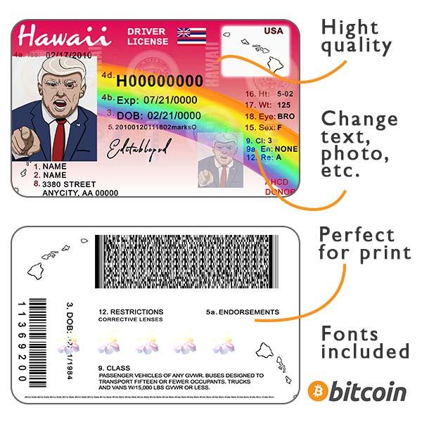 Hawaii driver license psd