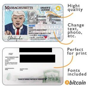 massachusetts driver license psd