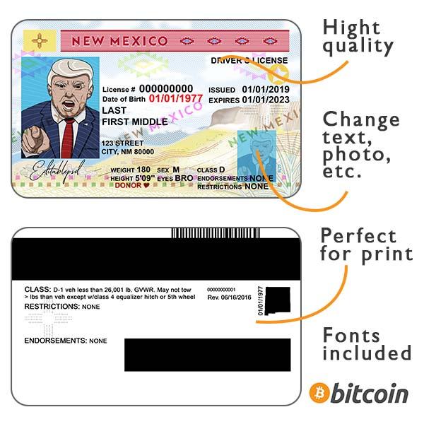 New Mexico driver license psd