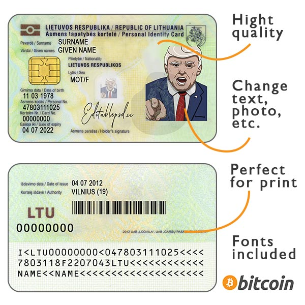 identity card lithuania psd