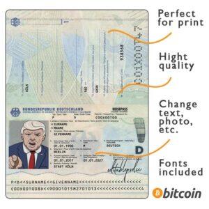 passport germany psd
