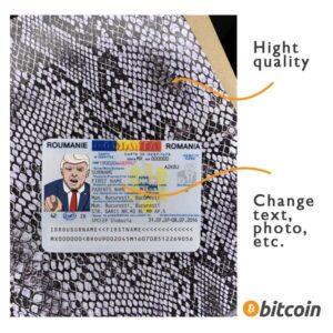 identity card romania psd