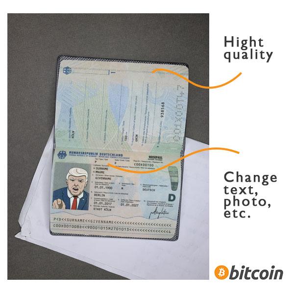 passport germany background psd